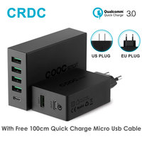 Type C Quick Charge CRDC QC 3 0 2 In 1 Phone Charger USB C Smart