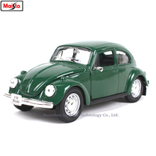 Maisto 1:24 Volkswagen-beetle classic simulation alloy car model crafts decoration collection toy tools gift
