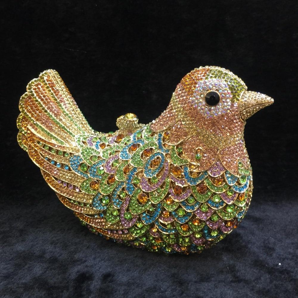 XIYUAN luxe partie coloré cristal sac usine en gros oiseau strass embrayage sac à main sac de soirée banquet sac à main sacs de soirée
