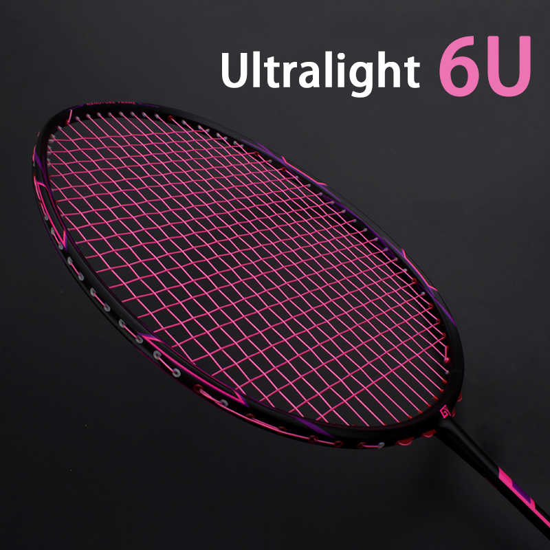 Super Light 6U Carbon Badminton Rackets Professional Offensive And Defensive Raquetas With String Bag Speed Z Force 22-26lbs