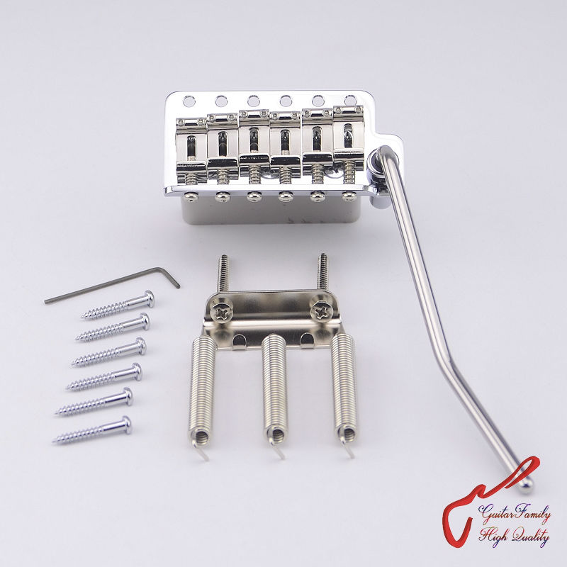 Genuine Original GOTOH 510TS-SF2 Vintage Style Electric Guitar Tremolo System Bridge  ( Chrome ) MADE IN JAPAN 1 set genuine original gotoh 510ts sf1 2 points vintage style electric guitar tremolo system bridge gold made in japan