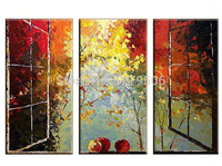 Hand Painted Abstract Oil Paintings On Canvas Hang Picture For Living Room Wall Decor Paintings Scenery Outside the window