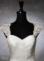 Romantic exquisite beaded detachable cap sleeve 2017 lace bolero wedding jacket