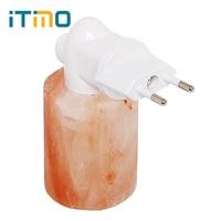 ITimo Bedside Lamp EU Plug Energy Saving Night Light Warm White Mini Salt Lamp Eyes Protection