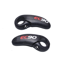 Ec90 초경량 탄소 자전거 보조 핸들 바 경적 자전거 바 끝 부통은 나머지 산 mtb 핸들을 넣어