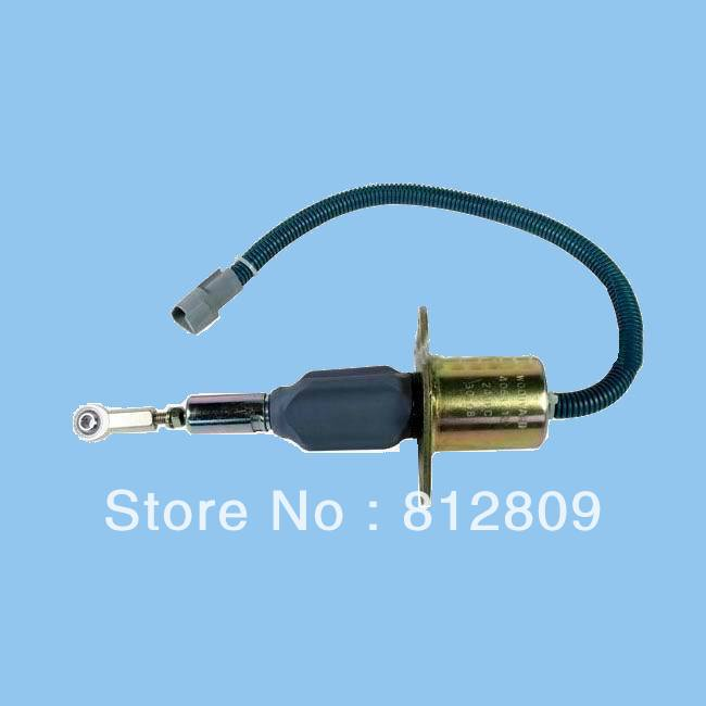 NEW DIESEL SHUT OFF SOLENOID 4063712 Generator 6CT 8.3L 24V Excavator flameout Fuel cutoff solenoid, Solenoid Switch free shipping 3931590 for r220 pc150lc 6k pc160lc 6k pw160 7 excavator flameout shut off solenoid 24 volt