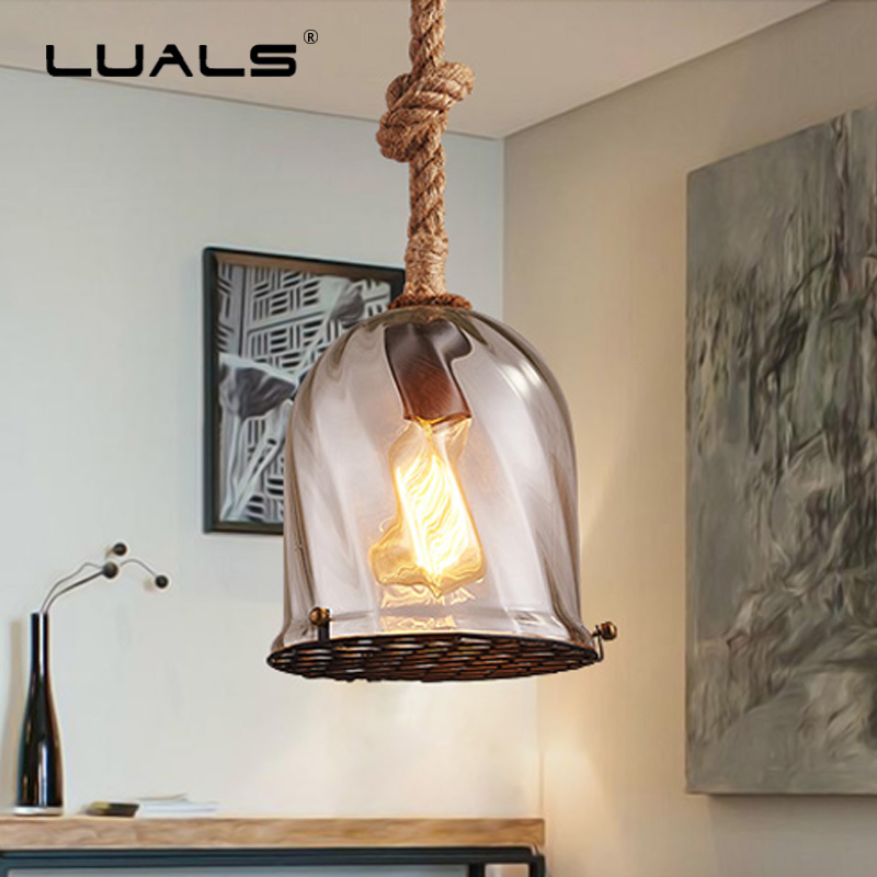 цены Nordic Hanging Lamp Loft Pendant Lights Light Fixture Glass Lampshade Luminary Edison Lamps Art Deco Indoor Lighting LED Light