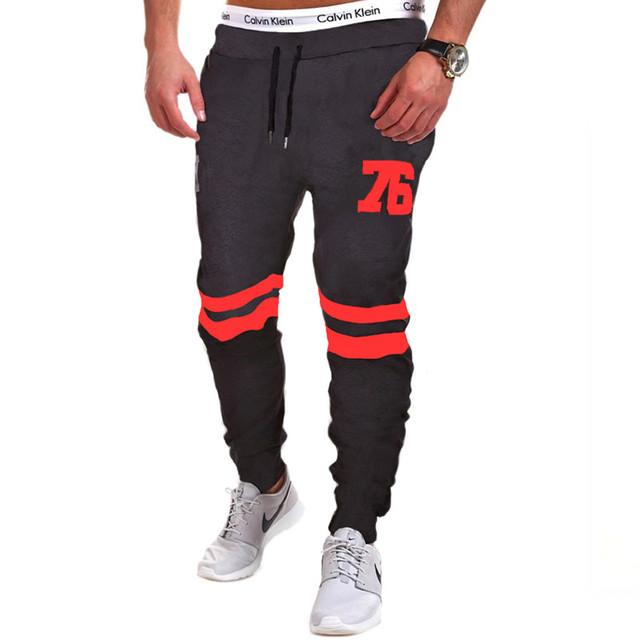 Moda Pantalones de Chándal de Los Hombres Sportwear Gimnasio Basculador Pantalones Masculinos Cómoda Cintura Elástica pantalones de Chándal Para Los Hombres Marca de Ropa
