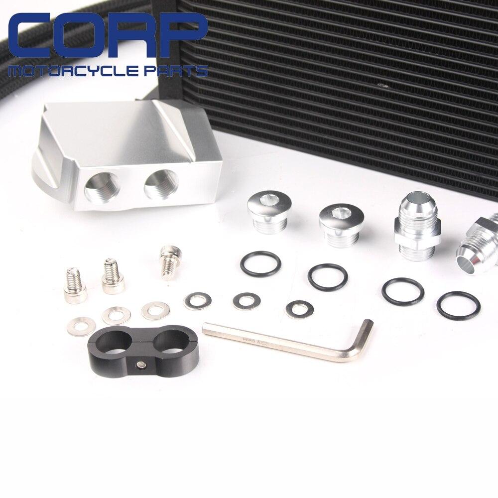 10 rangée Alliage AN10 Motorsport 300x135x50mm revalorisé SPORT MOTEUR VOITURE RADIATEUR D/'HUILE