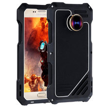 Phone Case For Samsung Galaxy S7 With Fish Eye Lens Waterproof Anti-knock Dust-proof Metallic +Plastic Cases For Galaxy G9300