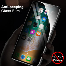 Anti Glare Tempered Glass For iPhone X 7 8 Plus Anti Privacy Screen Protector For iPhone 7 8 Plus X Anti Peeping Glass Film(China)