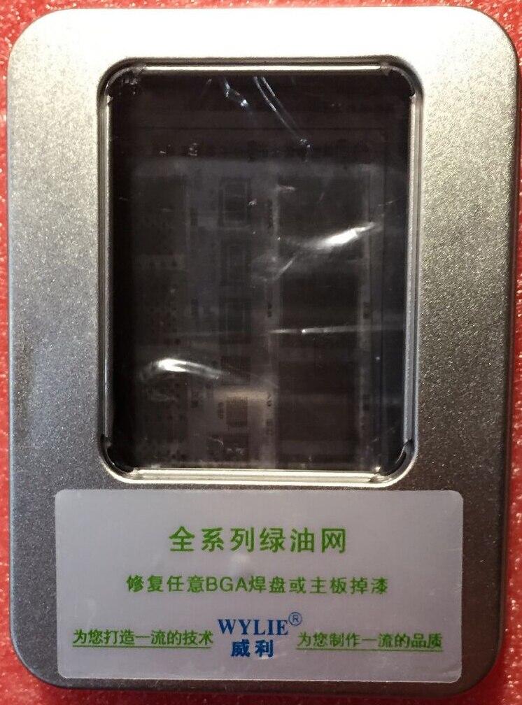 imágenes para Efix IP BGA Plantilla de Tinta Máscara De Soldadura Kit de Herramientas para Arreglar reparación iphone ipad nand flash potencia chip ic reballing placa lógica