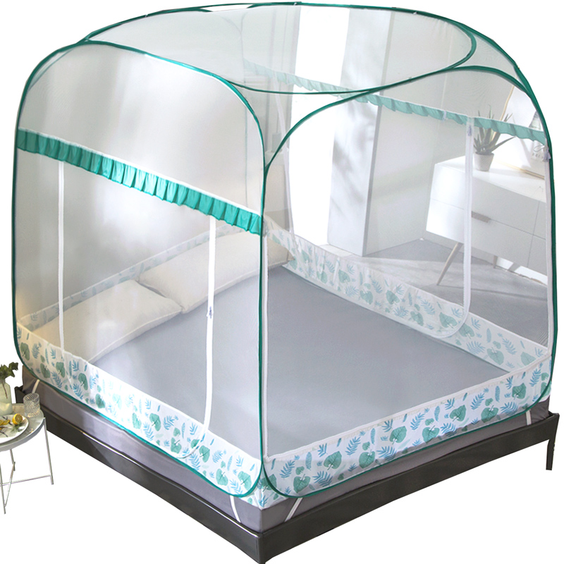 Folding Mosquito Net Three-door Insect Nets For Children Yurt Bunk Bed Mosquito Bedding Tent Adult Double Bed Mosquito Netting