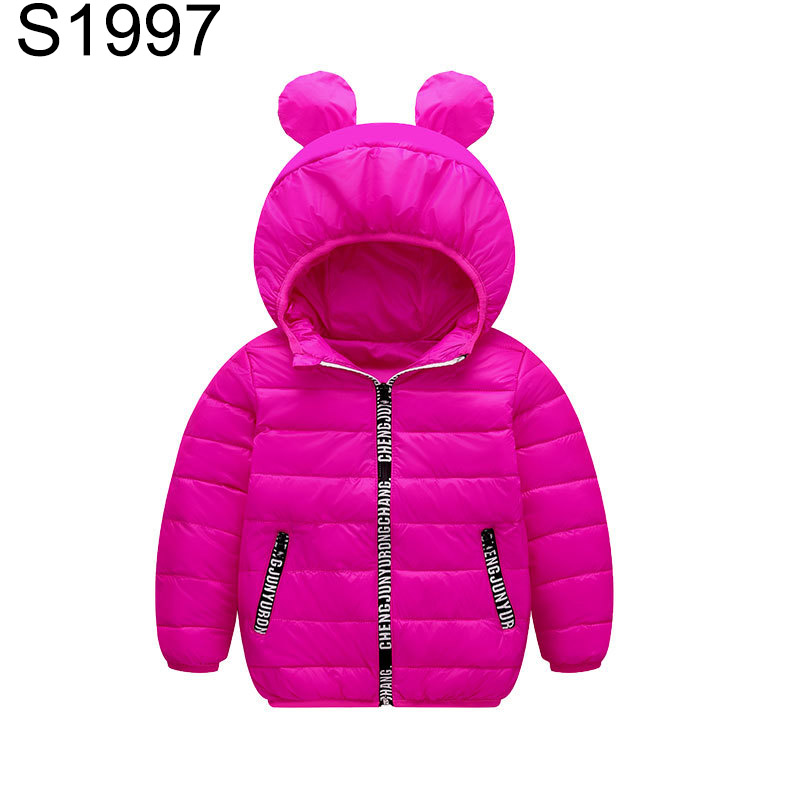 3-10 Years Children Winter Down Coat Kids Boys Girls Candy Color Warm Jacket Clothes Ultra Light Cartoon Hooded Outerwear Jacket children winter coats jacket baby boys warm outerwear thickening outdoors kids snow proof coat parkas cotton padded clothes