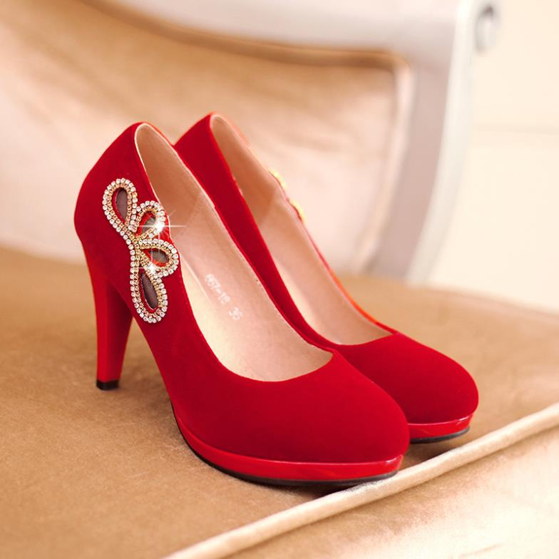 Women Cheap Red High Heel Shoes Most Beautiful For Wedding Heels ...