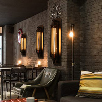 Originality and novel wall lamp sitting room balcony stair lamp American style restoring ancient ways Edison flute wall lamp.
