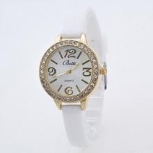 Симпатичные Bling Rhinestone Тонкие Мягкие Резиновые Силиконовые Кварцевые Наручные Часы Наручные Часы для Девочек Женщин Черный Белый Розовый Мяты OP001