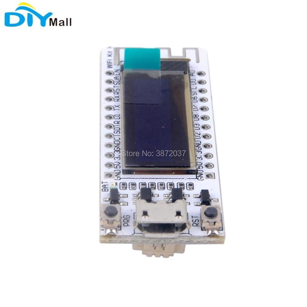 2pcs/lot 0.91 inch OLED Display ESP8266 Development Board CP2104 Wifi Kit8 for Arduino IOT NodeMCU