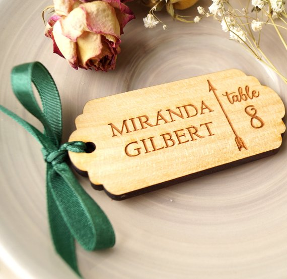 Personalized Wedding Tag,Engraved Rustic Gift Tags,Custom Wooden Wedding Tags,Personalized Bridal Wedding Favor Tag