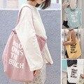 Женская Холщовая Сумка на плечо, вместительная пляжная сумочка с надписью, Женский Большой тоут, простой холщовый шоппер