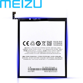Meizu 100% Original 3200mAh BA816 Battery For Meizu M8 Lite M816H Phone High Quality Battery+Tracking Number meizu high quality battery 100