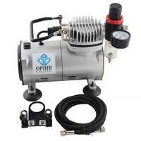 OPHIR Mini Kompressor mit Filterhalter Airbrush Kompressor Set für Modell Hobby Körper Malerei 110 V/220 V AC089