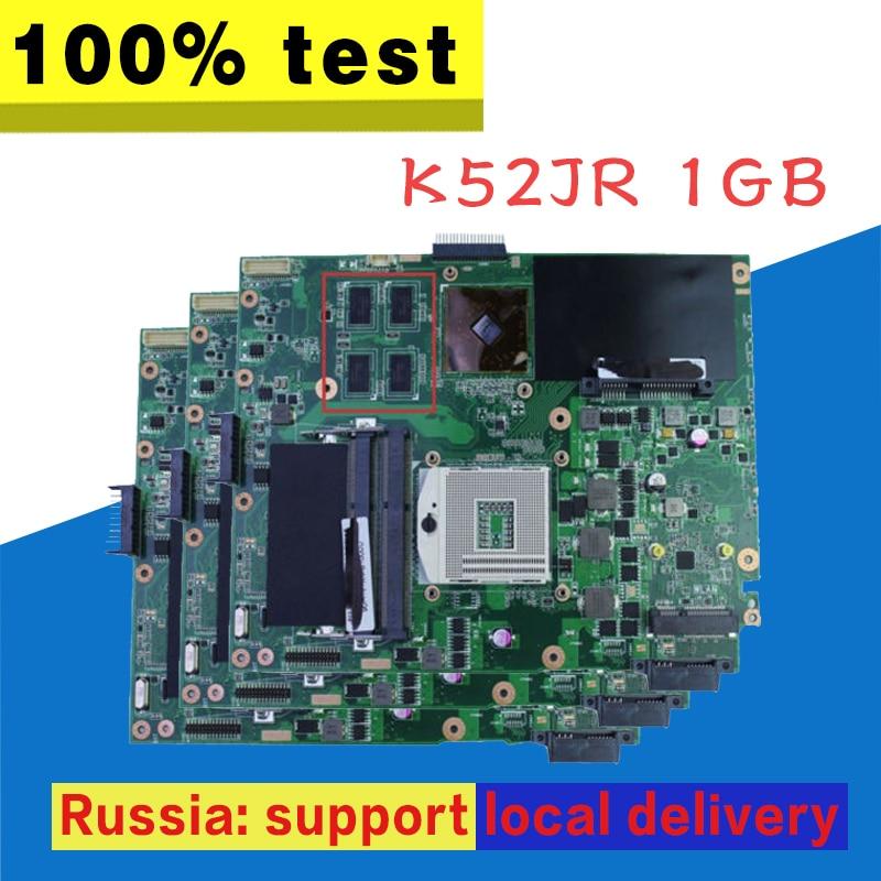 K52JR Carte Mère REV: 2.0 HD5470 1 gb Pour ASUS A52J X52J K52J Ordinateur Portable carte mère K52JR Carte Mère K52JR carte mère test 100% OK