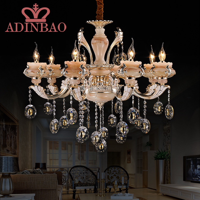 Antique Candle Chandeliers Champagne Crystal Chandelier: Royal K9 Crystal Chandelier With Jade Lampshade Champagne