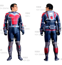 Halloween Cosplay Antman Costume For Christmas Party Full Body Zentai Suit with 3D Printing