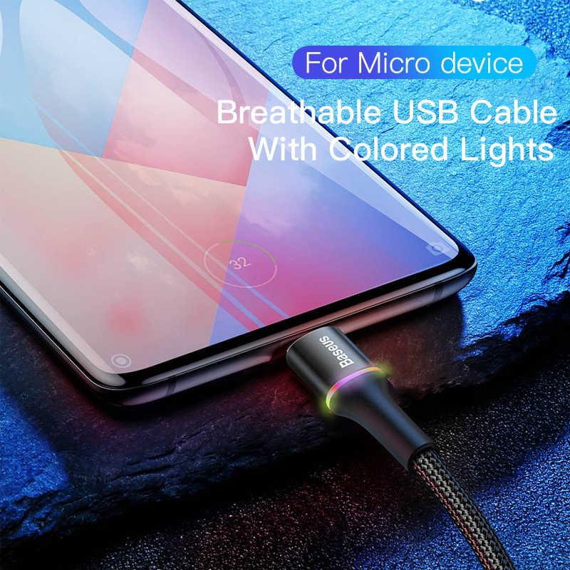 Baseus Cable Micro USB 3A rápido cargador de carga de Micro USB Cable para Samsung Xiaomi Redmi 4 Nota 5 Pro Android Teléfono Móvil Cables