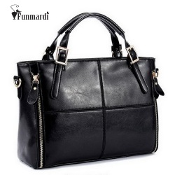 FUNMARDI Luxury Handbags Women Bags Designer Split Leather Bags Women Handbag Brand Top-handle Bags Female Shoulder Bags WLHB974
