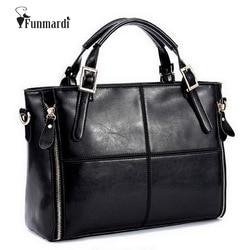 FUNMARDI Luxury Handbags Women Bags Designer Split Leather Bags Women Handbag Brand Top-handle Bags Female Shoulder Bags WLHB974