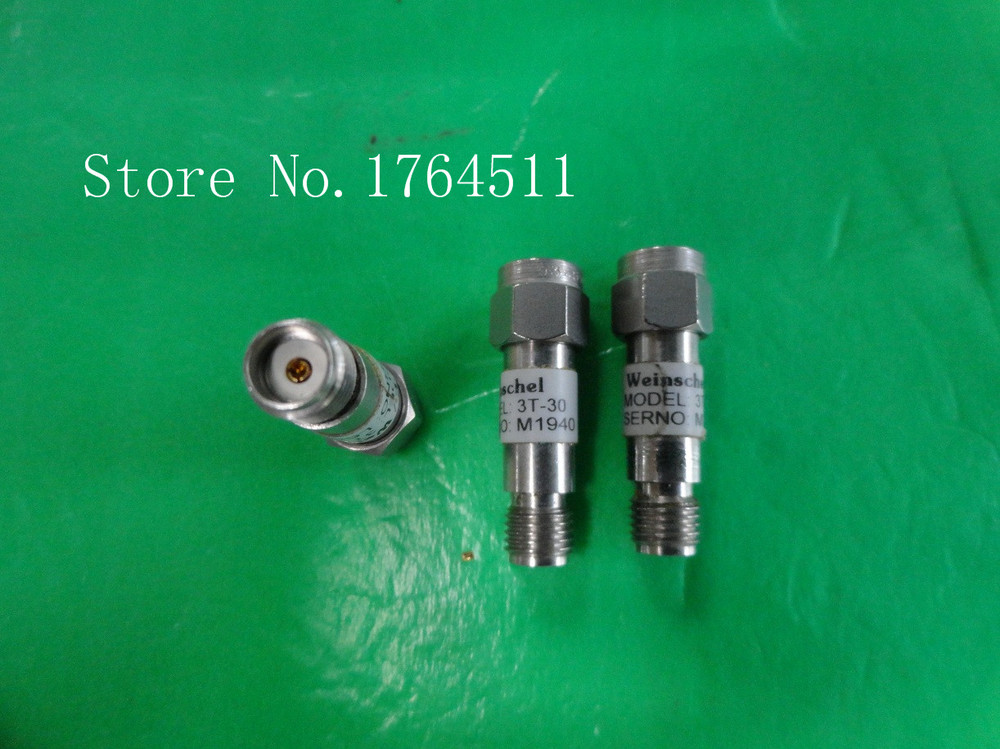 [BELLA] Weinschel 3T-30 DC-12.4GHz 30dB 2W SMA RF Coaxial Fixed Attenuator  --3PCS/LOT
