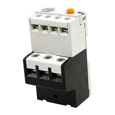 Motor Control Three Phase 2NO 2NC Contact 0.63-1A Thermal Overload Relay overcurrent protection three phase 2no 2nc thermal overload relay 1 1 6a