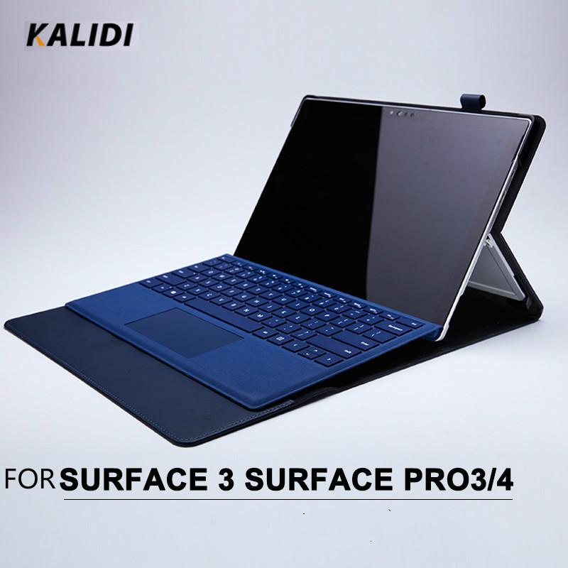 Prix pour Kalidi business style étui de protection pour surface pro 4 3 unisexe solide Couleur Housse De Protection pour Surface 3 En Noir Gris Bleu