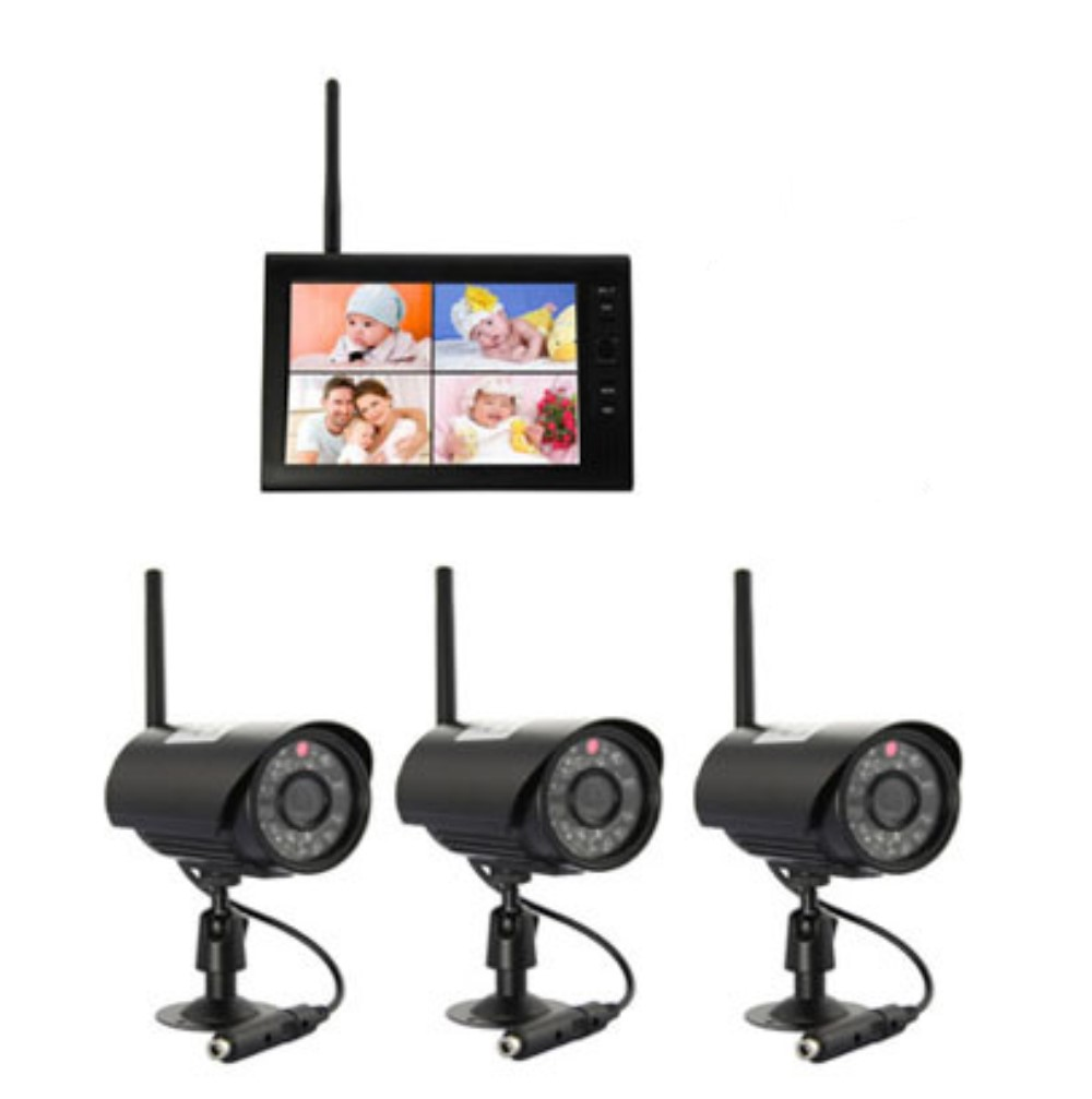 7 Inch 2.4Ghz Outdoor Water-proof Camera Wireless Baby Monitor With 3 Camera