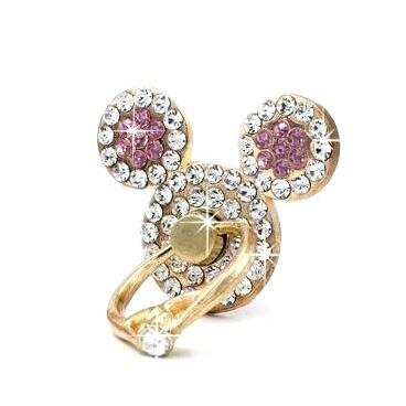 Universal Ears Finger Ring Stand Rhinestone Crystal Bling Diamond Cell Phone  Stent Holder Grip Kickstand for iPhone X 8 7 f50fd3579ceb