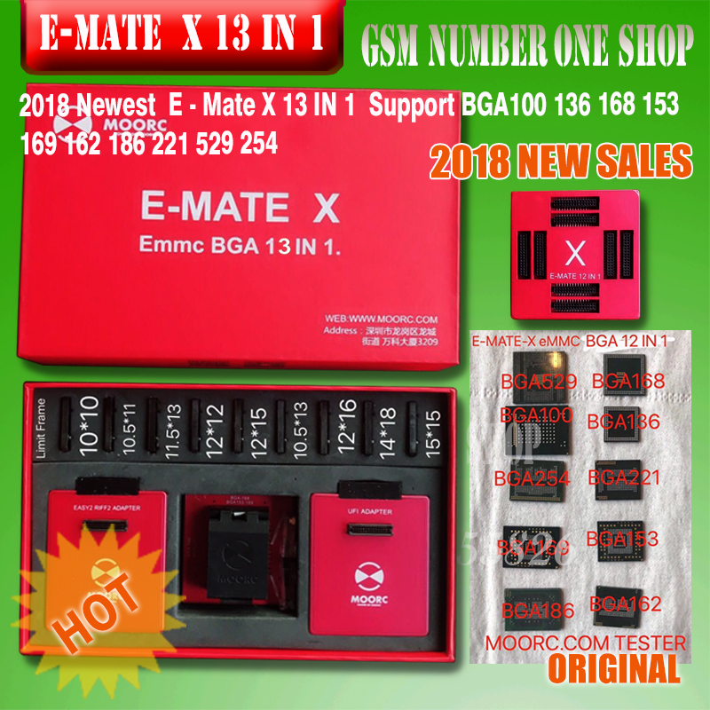 EMATE X 13 IN 1 / <font><b>E</b></font>-<font><b>MATE</b></font> MOORC / <font><b>E</b></font>-SOCKET / <font><b>E</b></font>-<font><b>MATE</b></font> PRO / EMATE <font><b>BOX</b></font> SUPPORT BGA 100 136 168 153 169 162 186 221 529 254 image