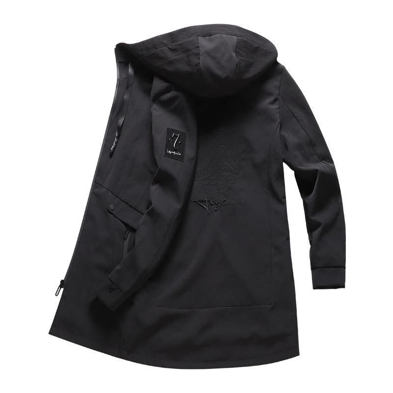 Aliexpress.com  Comprar Invierno con capucha larga chaqueta cazadora hombres  invierno impermeable larga trinchera abrigos rompevientos otoño hombres  abrigos ... 00809a65a82