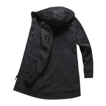 Зимние с капюшоном длинная куртка ветровки для мужчин Зимние непромокаемые длинные тренчи для женщин пальто будущих мам ветровка осен