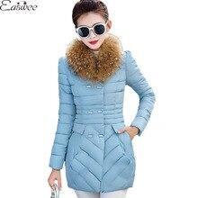 1PC Winter Jacket Women Fur Collar Parkas For Women Winter Coat Jaqueta Feminina Manteau Femme ZZ3566
