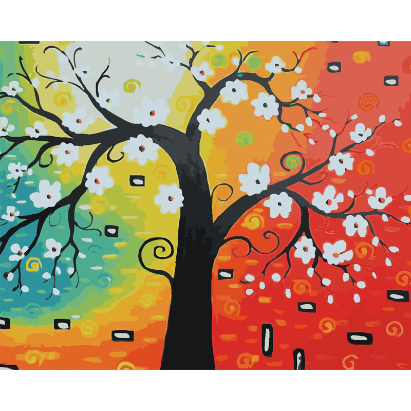 Diy Oil Painting By Numbers Coloring by numbers Abstract On canvas Dream tree animal Hand Painting Christmas Home decor gift
