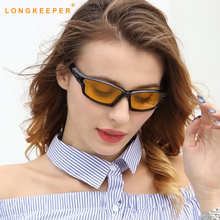 LongKeeper Polarized Sunglasses Night Vision Brand Designer Fashion For Driving Enhanced Light At Rainy Cloudy Fog Day