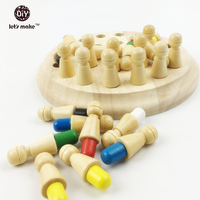 Waldorf Toy Wooden Montessori Materials Baby Wooden Toys Memory Chess For Children Kids Letsmake