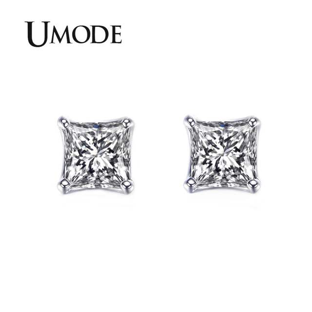 76dd0b98669 UMODE Tiny Delighted Small 5mm 0.63ct Princess-cut Zirconia Stud Earrings  UE0049