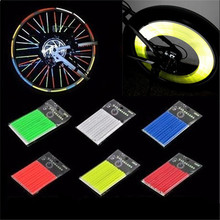New Hot Bicycle Spokes Reflective Tape / Warning Reflective Tape Bicycle / Cycling Safety Reflective Stick(1 Package=12Pcs)