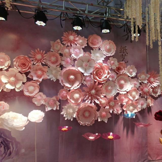 Grand Papier Géant Fleurs Pivoine Grande Rose Daisy Bricolage Maison Mariage Fête  Photographie Fond Décoration Murale Mode