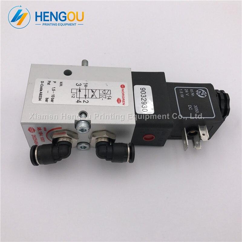 5 pieces 98.184.1051 solenoid valve for Heidelberg CD102 SM102 MO machine heidelberg valve 98.184.1051 2625484 стоимость