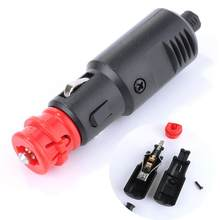 12V-24V Car Cigarette Lighter Power Connection Cigaret Socket Adaptor Male Plug(China)