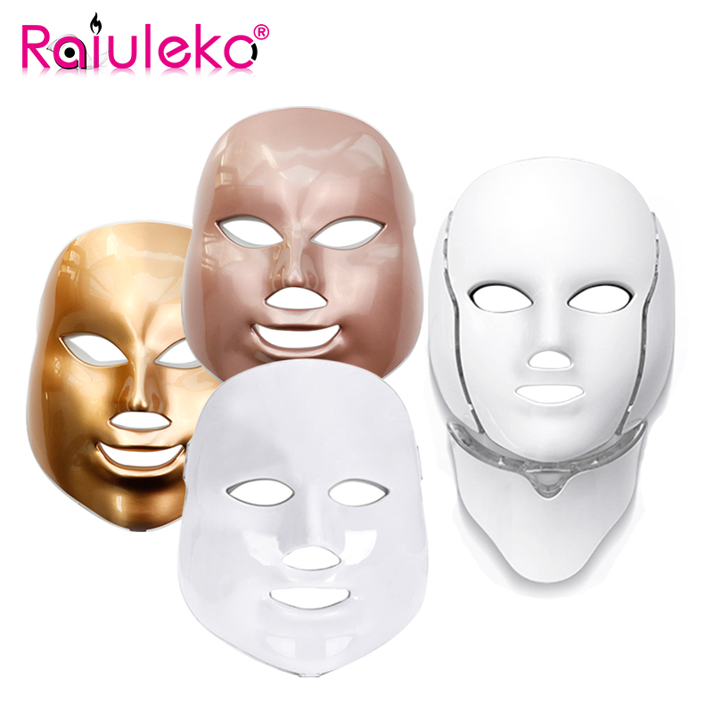 Korea Facial Mask 7 Colors LED Mask for Face Skin Rejuvenation Face Mask Treatment Beauty Anti Acne Therapy Whitening Massager secret key snow white milky pack 200g korea face mask moisturizing skin whitening anti aging facial mask beauty